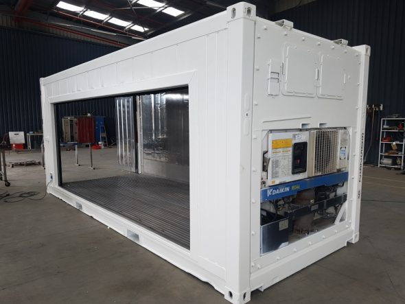 Accessoire container frigorifique IceCubner rideau coulissant