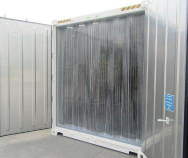 Chambre froide container 20 pieds équipement lamelles PVC